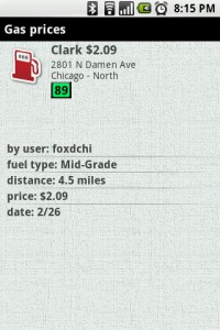 WHERE Gas Prices Details