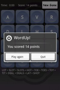 WordUp! Game End - Points Tally