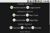 Solitaire Display Options