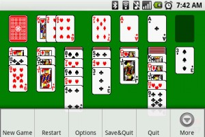 Solitaire Menu