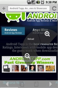 Steel Android Web Browser Long Press for Zoom Options
