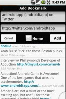Steel Android Web Browser Save Bookmarks