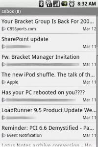 Exchange by TouchDown Inbox