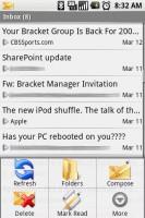 Exchange by TouchDown Inbox Menu Options