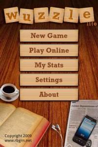 Wuzzle Start Screen
