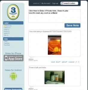 3Banana Notes Home Page