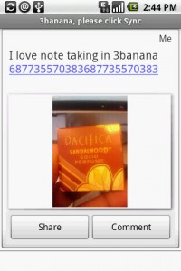 3banana Notes Note with Bar Code Picture