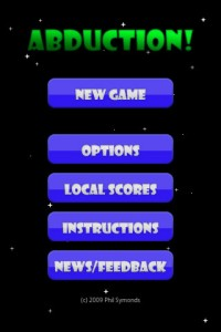 Abduction Start Screen