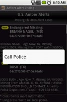Amber Alert Long Press to Call Police