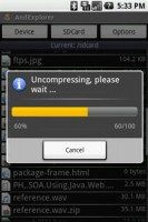 AndExplorer Uncompress File 2