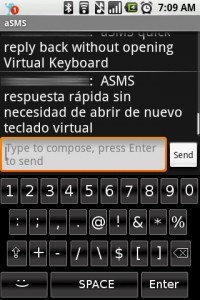aSMS Message Received Tranlated to Spanish