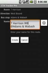 CTA Tracker Choose Route Name