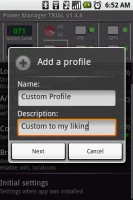 Power Manager Add Profile