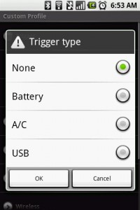 Power Manager Add Profile Criteria by Trigger