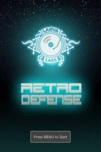 Retro Defense Start Screen