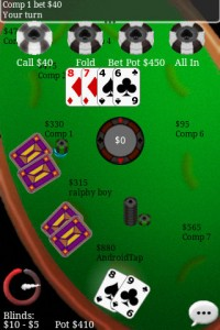 Texas Hold'em Online in Game Play