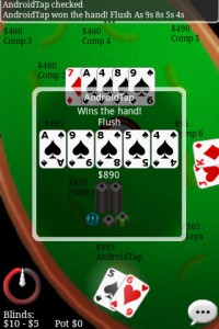 Texas Hold'em Online in Game Play - Winning Hand