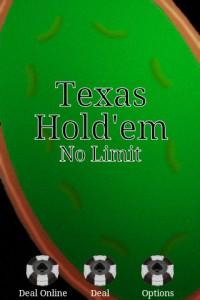 Texas Hold'em Online Start Screen