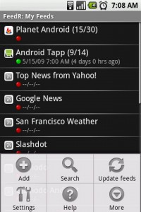 FeedR News Reader Options 2