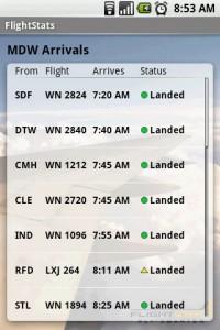 FlightStats Arrival Details
