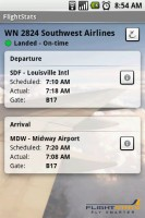 FlightStats Arrivals Flights Details