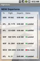 FlightStats Departue Details