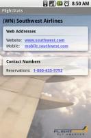 FlightStats Saved Airline Details