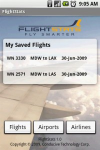 FlightStats Saved Flights