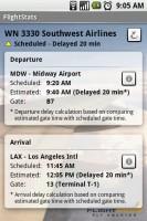 FlightStats Saved Flights Details