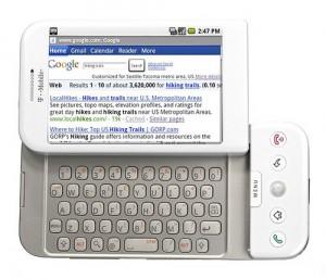 T-Mobile G1 in White Keyboard Open