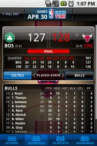 NBA Game Time Game Score Details 2