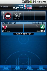 NBA Game Time Quick Link to Today