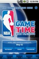 NBA Game Time Start Screen