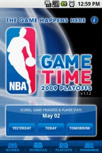 NBA Game Time Start Screen