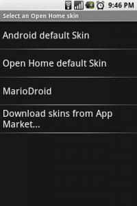 Open Home Download Skins