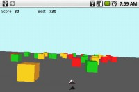 3D Cube Race in Game Play 1