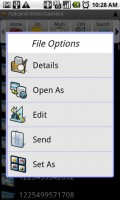 Astro File Manager File Actions