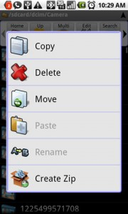Astro File Manager File Edit Actions
