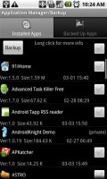 Astro File Manager Installed Application Manager