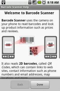 Barcode Scanner Help Section