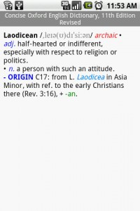 Concise Oxford English Dictionary Definition