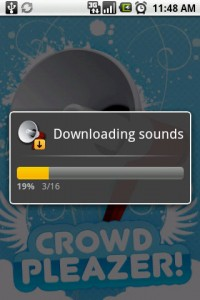 CrowdPleazer Downloading Sounds