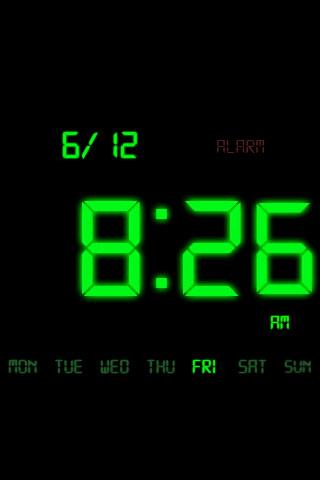 Kaloer Clock Green Theme