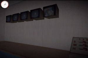 Mystique. Chapter 2: The Child. Control Room with Security Monitors