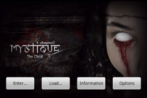 Mystique. Chapter 2: The Child. Start Screen