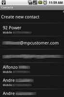 SendContact List of Contacts
