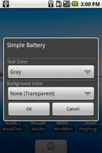 Simple Widget Pack Choose Background Settings