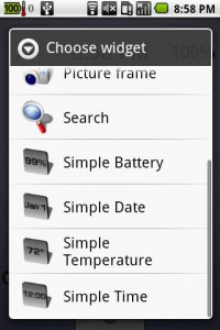 Simple Widget Pack Choose Widget