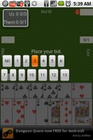 Spades for Android Placing Bid