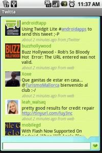 Twitta Friends Timeline